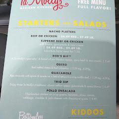 gluten free menu page 1