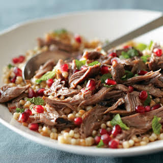 Mediterranean Lamb Shanks with Israeli Couscous Salad.