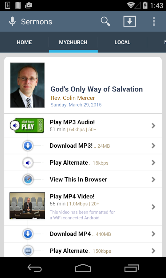 SermonAudio Android Edition- screenshot