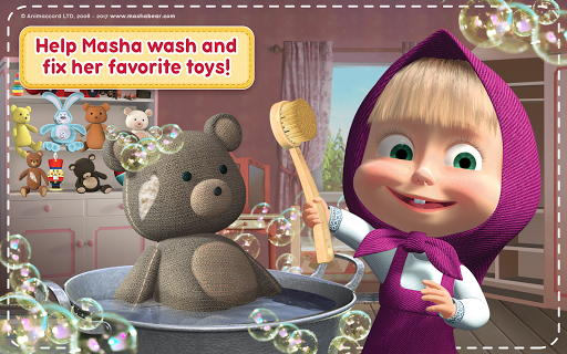 Masha and the Bear: House Cleaning Games for Girls  screenshots 14