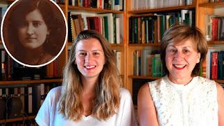 Juana Álvarez Bañón y las investigadoras que han dado a conocer su historia.