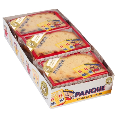 panque once once frutas 50gr 6und