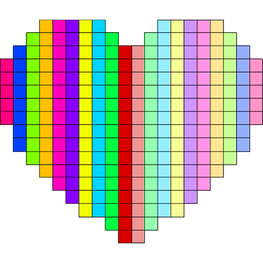 Pixel Art Symmetry Draw: Color by Number Icon