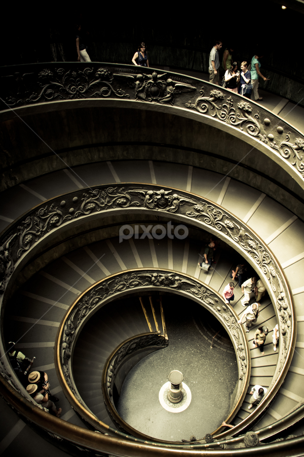 The end where I begin by Archit Sureka - Buildings & Architecture Architectural Detail ( stairs, round, museum, vatican, spiral )