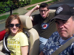 Photo: In the convertible...