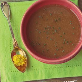 Pumpkin, Celery, and Tomato Soup.
