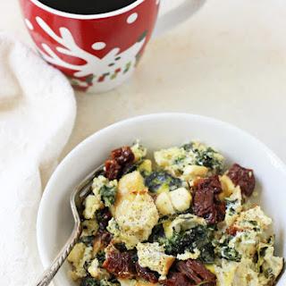 Slow Cooker Spinach Feta Egg Casserole.