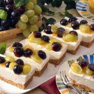 Quarkschnitten mit Weintrauben (Diabetiker)