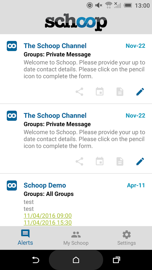 Schoop- screenshot