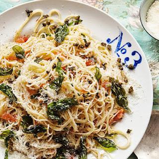 Tomato, Basil and Crispy Caper Pasta