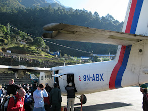 Photo: NRA plane after lending in Lukla