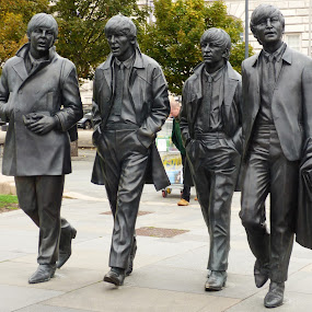 the beatles by Nick Parker - Buildings & Architecture Statues & Monuments ( path, docks, walking, statue, liverpool, beatles,  )