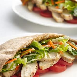 Healthified Chicken Caesar Pitas