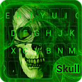 Flaming Skull Emoji Keyboard