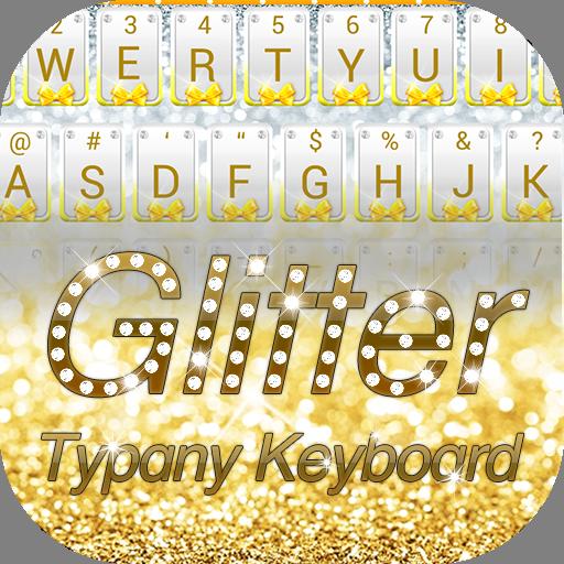 Gold Silver Glitter Theme&Emoji Keyboard