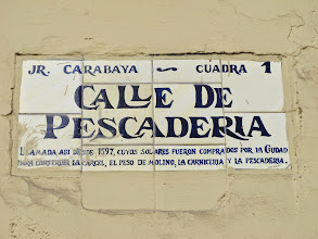 Photo: Jirón Carabaya. O Pescadería Bar Restaurante Cordano Centro de Lima Mayo - 2014
