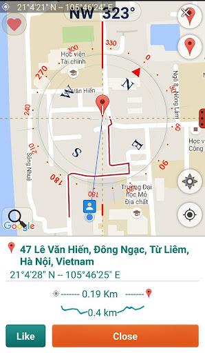 Googleマップのためのコンパス