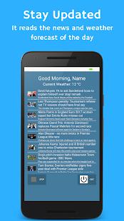 Futuristic Alarm v2.0 - Listen to News - náhled
