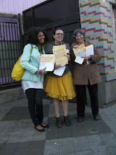 Photo: 3.21.12 handing out anti-street harassment materials outside a Bart station in San Francisco, CA, USA