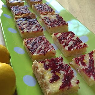 Lemon Bars With Blackberry Drizzle