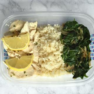 Chicken, Cauliflower, Spinach Meal
