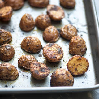 Oven Roasted BBQ Potatoes.
