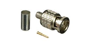 BNC Crimp Plug 75 Ohm BCP-A4 (for LV-61S, RG59B/u), 100pcs