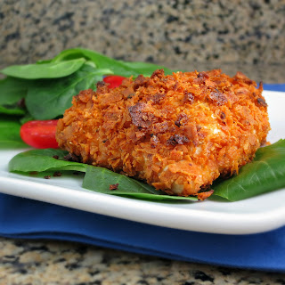 Baked Dorito-Crusted Chicken.