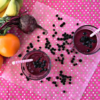 Immune Boosting Wild Blueberry Beet Smoothie.