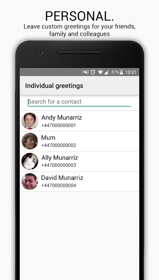 HulloMail Free Smart Voicemail- screenshot