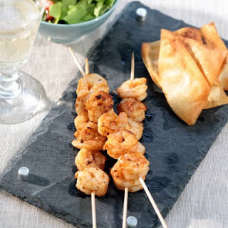 Ouzo-Marinated Grilled Shrimp.