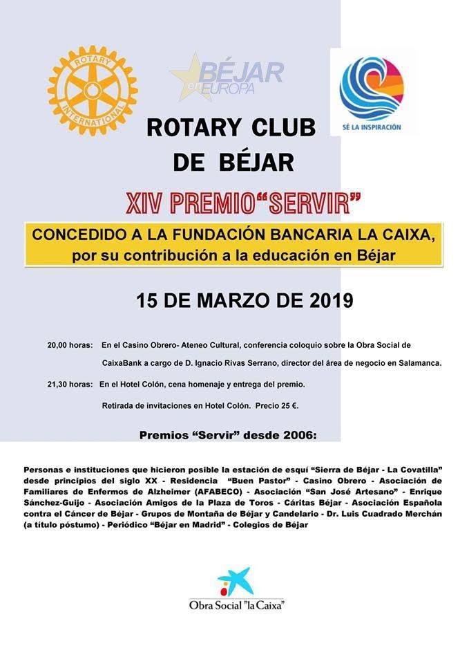 Cartel Premio Servir 2019