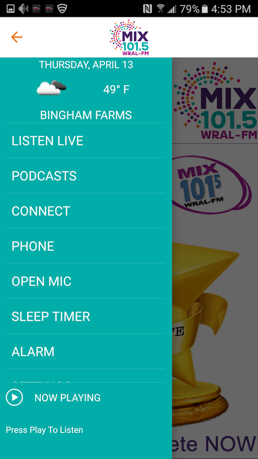 WRAL-FM- screenshot