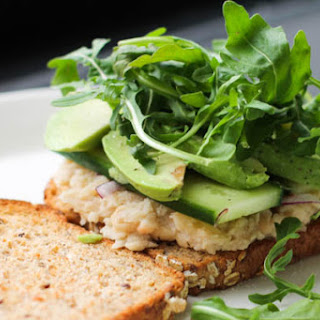 Smashed White Bean and Avocado Sandwich.