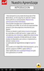 PSU Matemática Prueba Ensayo screenshot 1