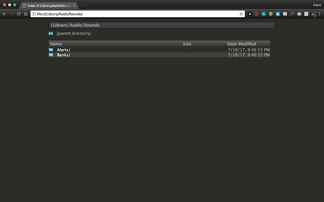Dark-Themed Chrome File Explorer