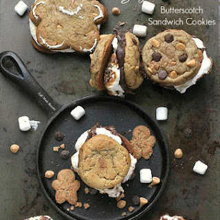 Gingerbread Butterscotch S'mores Sandwich Cookies