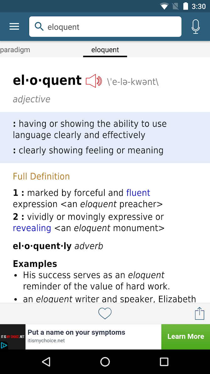 Dictionary - Merriam-Webster Android 2