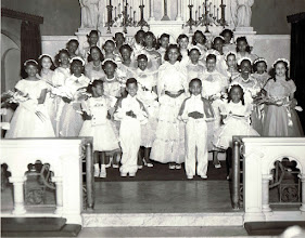 Photo: 1958 May Procession Court_ Camille Savoy -May Queen_St Cyprian Parish