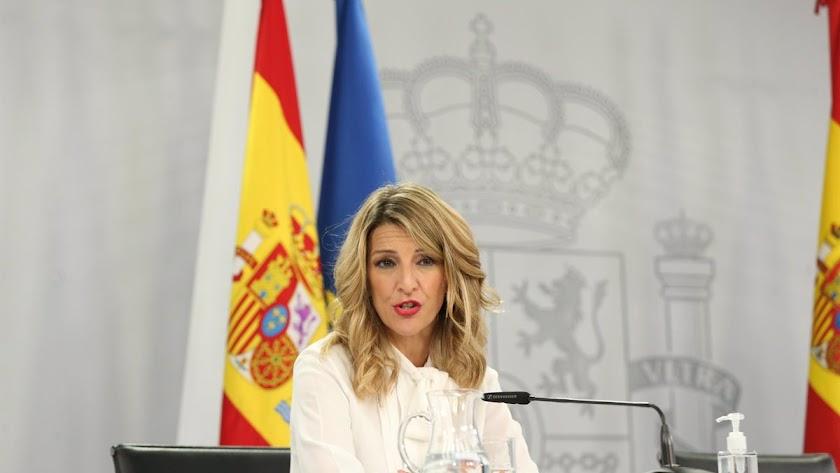 La ministra de Trabajo, Yolanda Díaz, ha realizado una polémica propuesta.