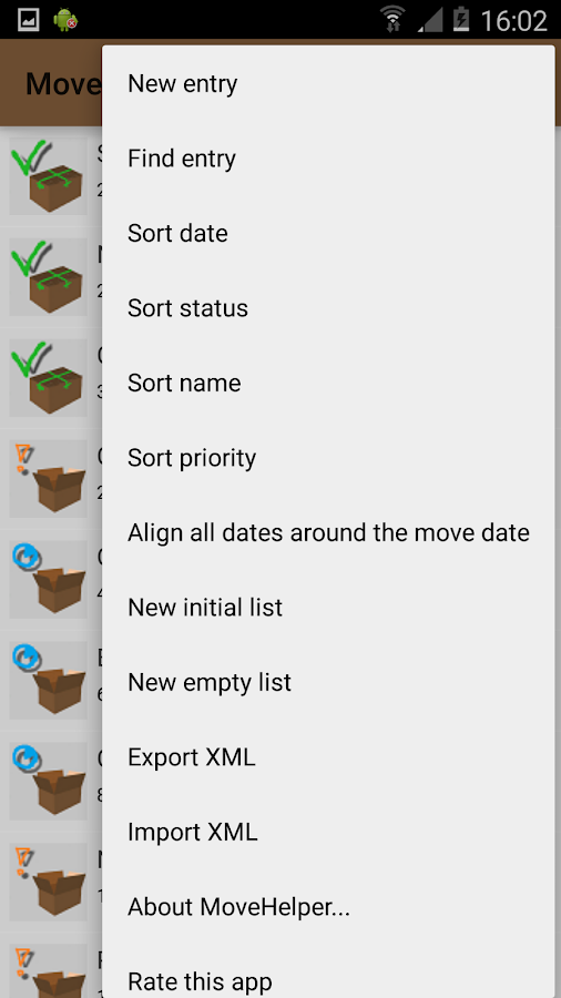 MoveHelper: Organize your Move- screenshot