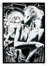 Photo: Эротический постер на холсте. Подрамник, по периметру - акриловая рамка