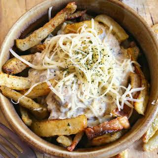 French Fries with Mushroom Gravy.