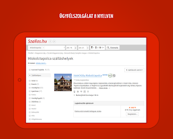 Screenshot of Szallas.hu