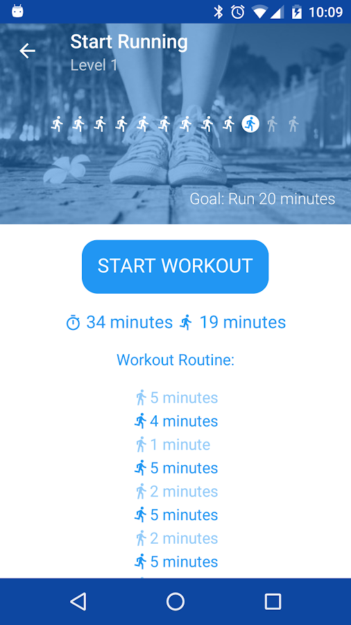 Start Running. Couch to 5K- screenshot