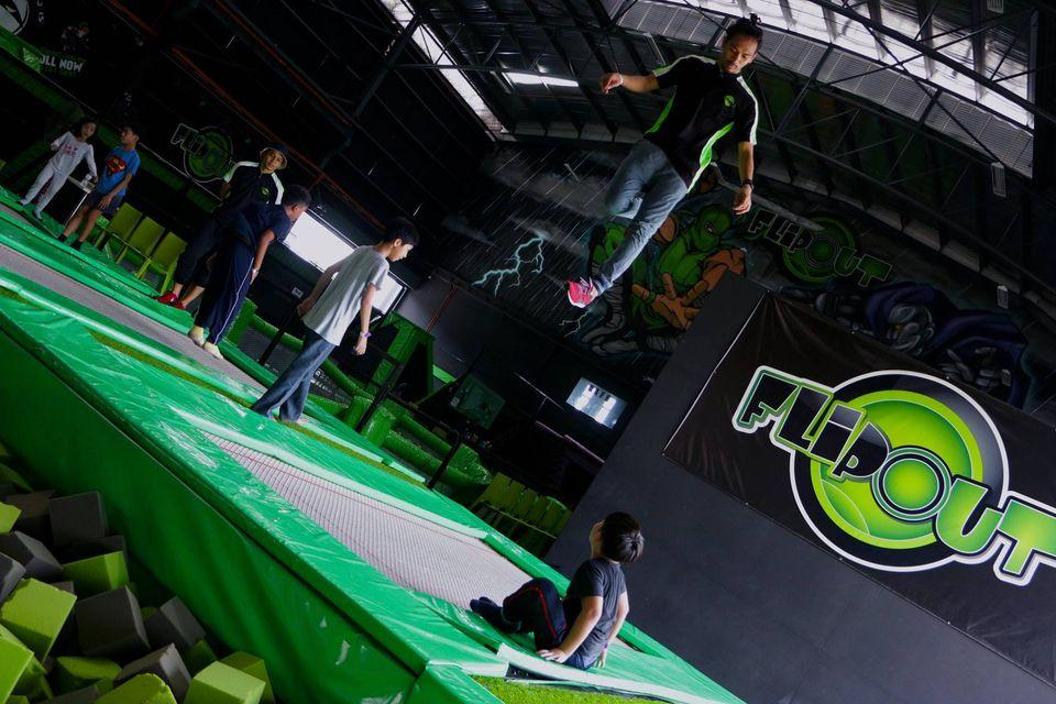 Places To Burn Calories, flip out trampoline