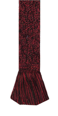 House of Cheviot Basket Weave Garter Tie Merlot