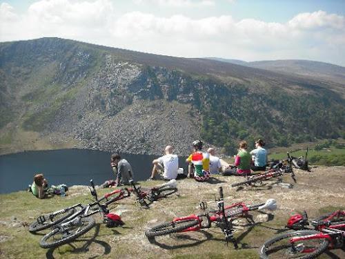 Photo VTT dans les montagnes de Dublin