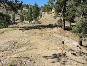 Photo: 3:32 - Saddle junction (7470'). View north