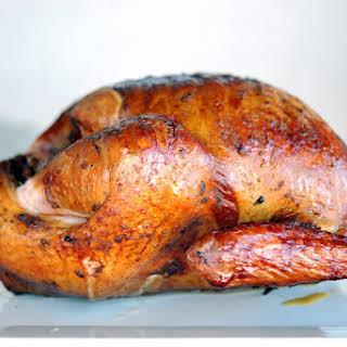 Bacon Bourbon Smoked Turkey.
